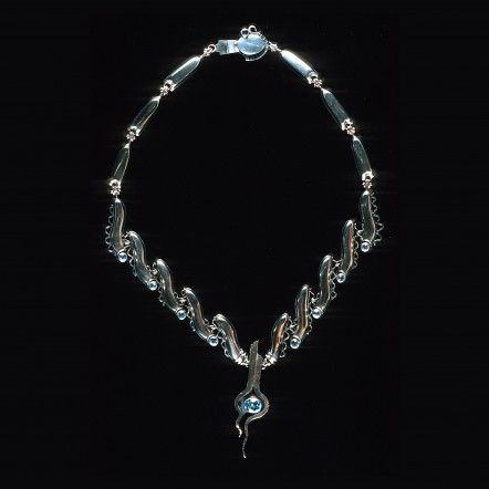 Sterling Silver and Topaz Necklace