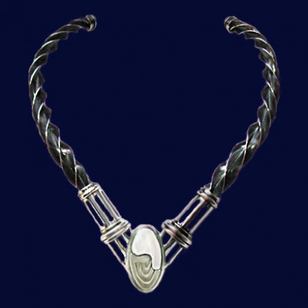 Celtic Torque Sterling Silver Necklace