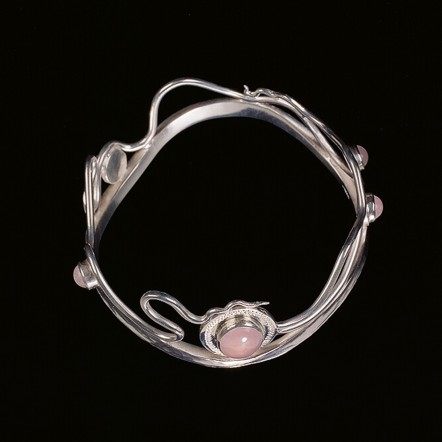 Sterling Silver/Rose Quartz Bracelet