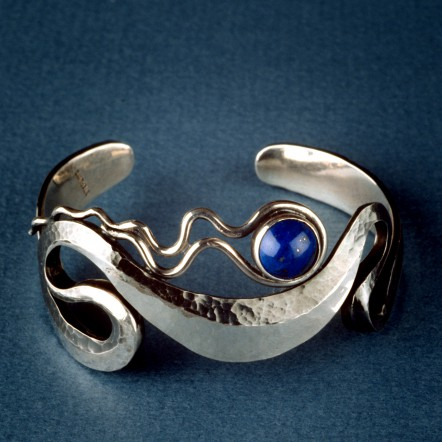 Sterling Silver Bracelet with Lapis