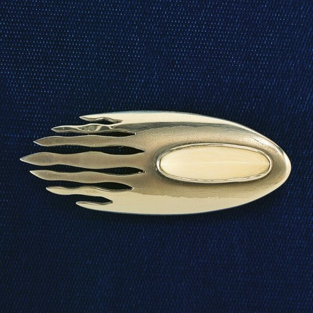 Sterling Silver Oval Pin