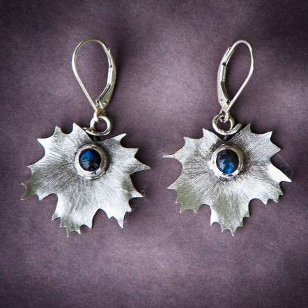 Maple Leaf Design Earrings